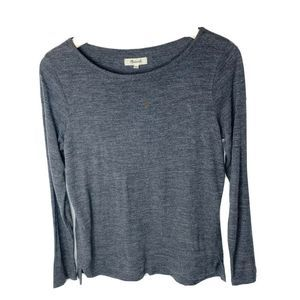 Madewell Anthem Boatneck Charcoal Gray Tee